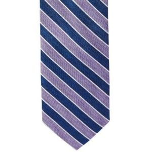 Jos A Bank Tie 1905 Thin Stripe Blue Purple White